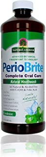 Nature's Answer PerioWash Mouthwash Alcohol-Free Cool Mint - 16 fl oz | Fluoride Free | Natural Breath Freshener | Stain R...