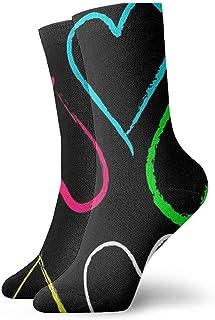 Tammy Jear, Corazón colorido Calcetines cortos para adultos Calcetines divertidos para yoga Senderismo Ciclismo Correr Fútbol Deportes