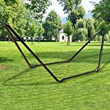 Inditradition Universal Portable Steel Hammock Stand   Ideal for All Hammocks 9 to 14 Feet Long, 150 KG Load Capacity (Black)