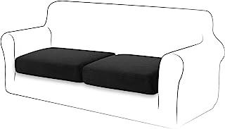TIANSHU Funda de cojín de Alta Elasticidad Funda de cojín para sofá Funda de Funda Protectora para Muebles Funda de Asiento para sofá Fundas de cojín de 1 Rebanada para Silla (1 Rebanada, Negro)