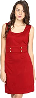 BESIVA Women's Sleeveless Viscose Bodycon Dress