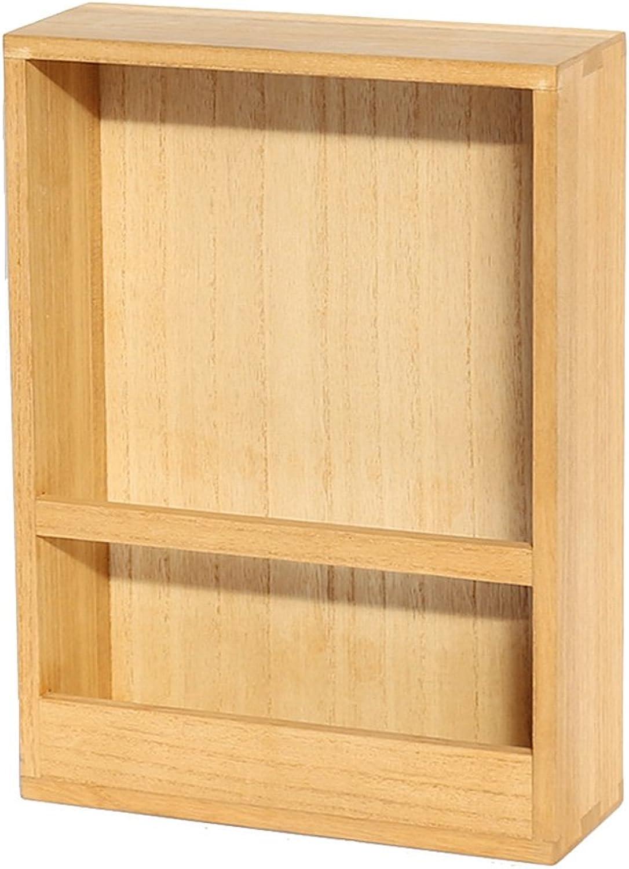 LQQGXLoffice Furniture Solid Wood Shelf, Wall Magazine Rack Newspaper Rack Creative Display Rack Storage Newspaper Rack (color   A)