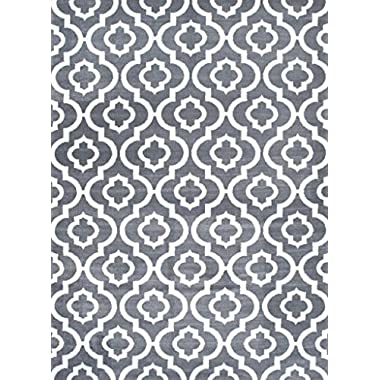 3028 Gray Moroccan Trellis 2'2x7'4 Area Rug Carpet Large New