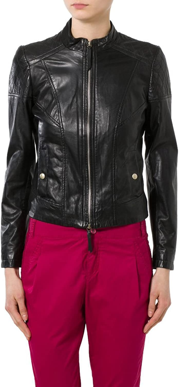 New Women Motorcycle Black Lambskin Leather Jacket Coat Size XS S M L XL LTN081