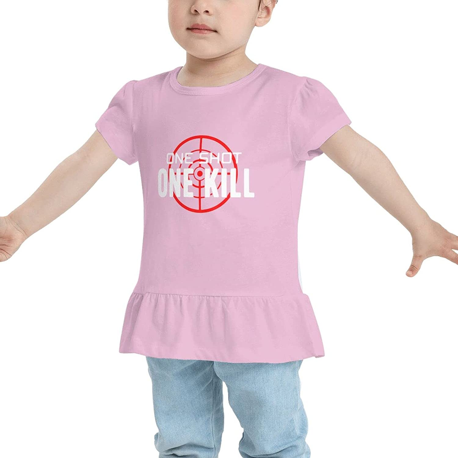 Stay Low Go Fast One Shot One Kill Baby Girls Cotton T-Shirt T-Shirt Dresses