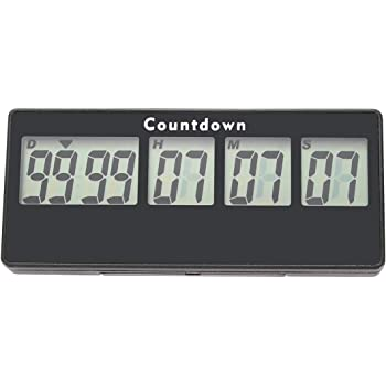 AIMILAR 9999 Days Digital Countdown Timer - Magnetic Count Up Down Timer for Trip Retirement Wedding Christmas New Baby Classroom Lab