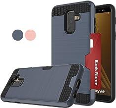 متوافق مع هاتف Galaxy A6 Plus (ليس لـ A6) 2018، LDStars[نسيج أملس] غطاء واقٍ مضاد للصدمات مع فتحات للبطاقات لهاتف Samsung A6 Plus 2018