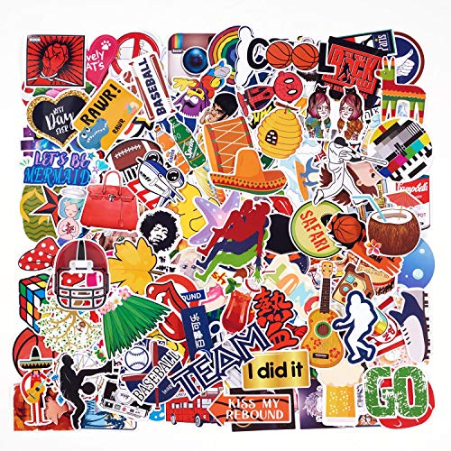 100 Count Cutely Stickers Set Random Sticker Decals for Water Bottle Laptop iPad Skateboard Bicycle Luggage ETC. Best Gift for Kids Teens Boys Girls Students(100pcs)