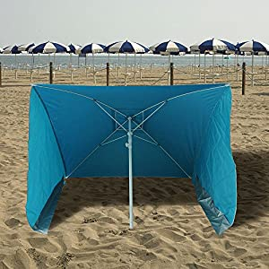 PAPILLON 8042680 Sombrilla Playa con Laterales Antiviento 170x170 cm