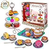 Milly & Ted 39 Pezzi Afternoon Tea Party Teaset for 4 - Set da tè in Metallo per Bambini ...