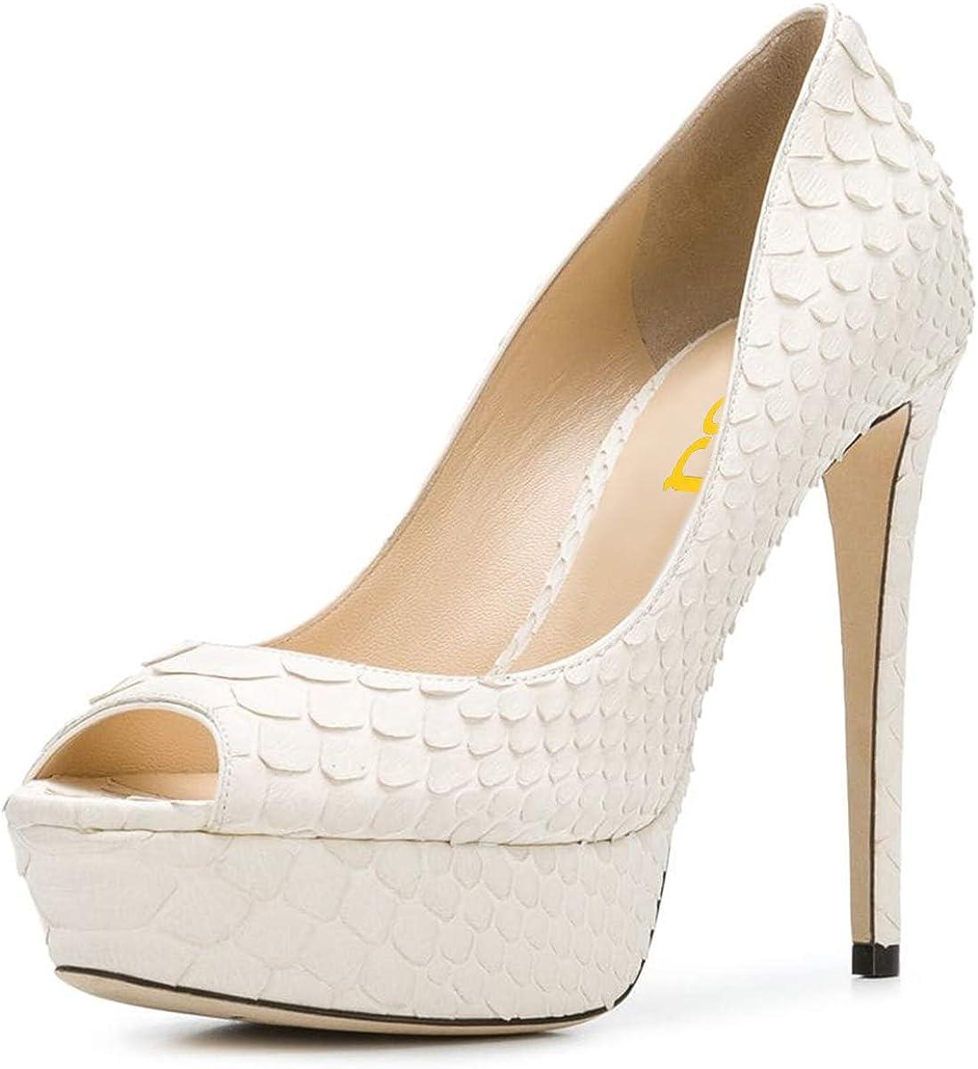FSJ Women Sexy Peep Toe Platform Pumps 4 years warranty Shoes latest High Formal f Heels