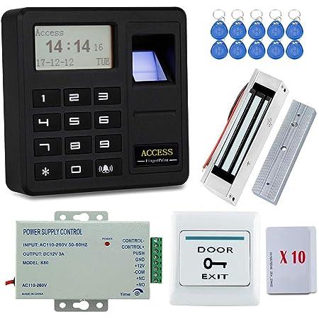 Serrure de Porte dentr/ée acc/ès Multiple par Empreinte Digitale//PIN Hakeeta Lecteur dempreinte Digitale IP66 biom/étrique syst/ème de contr/ôle dacc/ès par Mot de Passe