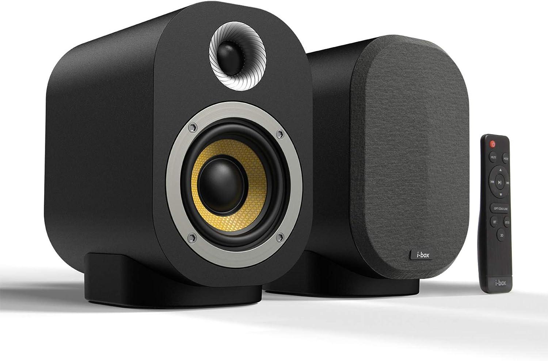 Bluetooth Bookshelf Speakers, Compact 20W Hi Fi Wireless Professional  Studio Monitors, Performance Tuned 20 Inch Kevlar Speaker Drivers with 20  Inch ...