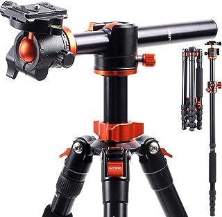 K&F Concept TM2515T1 Professionelles 170,2 cm Kamerastativ Horizontales Aluminiumstativ Tragbares Einbeinstativ mit 360 Grad Kugelkopf Schnellwechselplatte für Canon Nikon Sony DSLR Kameras