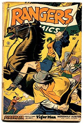 Rangers Comics #38 comic book 1947- HANGING COVER golden-age-Bondage GGA
