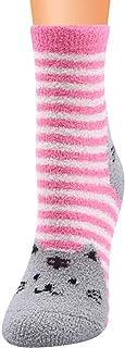 TJCJIEM, Calcetines Invierno Mujer - Chicas Divertidos Calcetines Térmicos Deportivos de Lana Coral con Impresión de Gato Animales Socks Moda Calcetines de Alfombra Calentitos Calcetines Largos