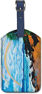 Pacifica Island Art Leatherette Luggage Baggage Tag - Happy Place by Rachael Ray