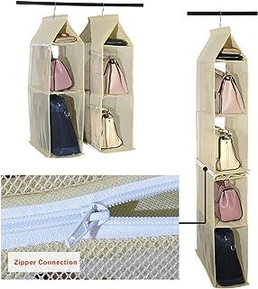 Bobury 6 tasche di grandi dimensioni in borsa della borsa Hanging immagazzinaggio del sacchetto dellorganizzatore armadio