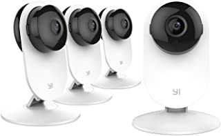 YI Home Camera, IP Security Surveillance System with Night Vision on iOS, Android App - Cloud Service Available(Home Camera 4pc)