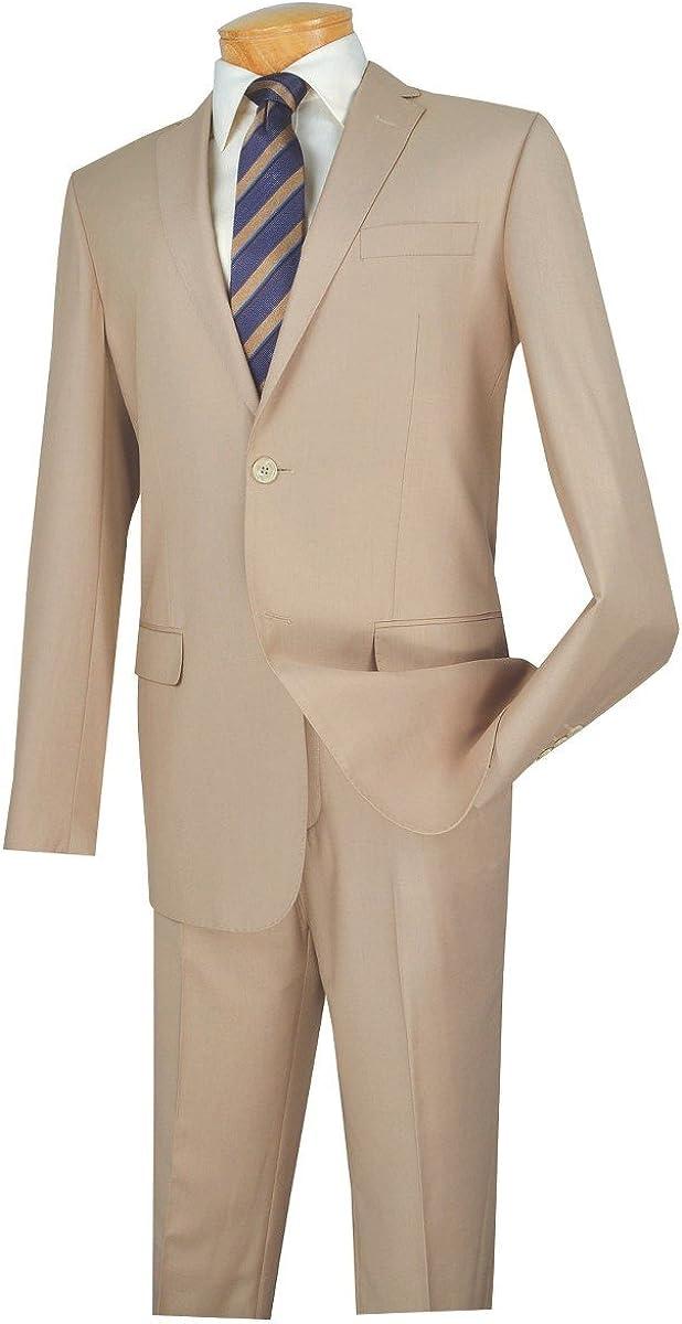 VINCI 2 Button Single Breasted Slim Fit Solid Color Suit SC900-12