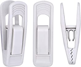 Tissir 40pc Hanger Clips - White Strong Pinch Grip Clips for Use with Slim-line Clothes Velvet Hangers, Multi-Purpose Finger Clips for Home