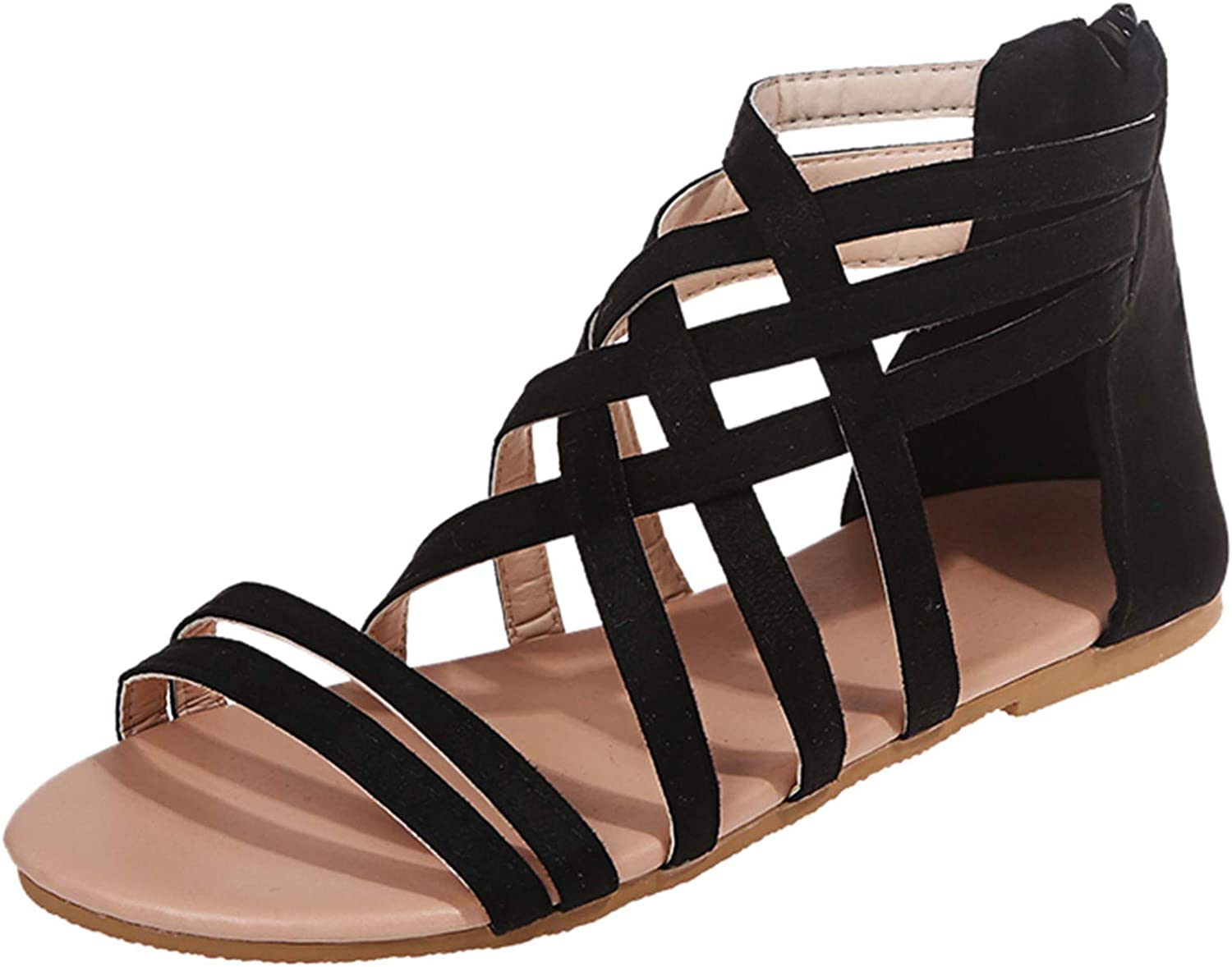 ZiSUGP Womens Comfort Walking Clearance SALE Limited time Flat Sandals Bohemia famous Summer Beach