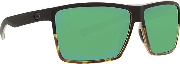 Costa Rincon Two Tone Plastic Frame Green Mirror Lens Unisex Sunglasses RIN181OGMGLP