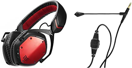 V-MODA Crossfade Wireless Over-Ear Headphone - Rouge with BoomPro Microphone for Gaming & Communication