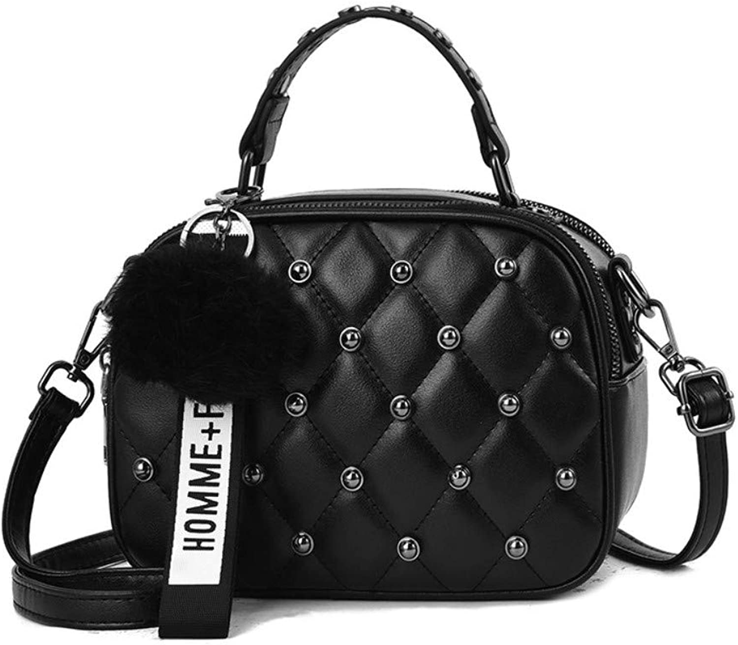 Z.H-H Wild Fashion, Small Fresh Lady Casual, Simple and Large-Capacity Personality Hand Shoulder Bag, Shoulder Bag, Rivets