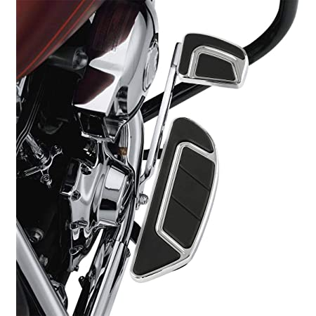 Chrome, Long Angled TCMT Passenger Floorboards Streamline Footboards Mount Bracket Kits+1.25 Adjustable Highway Footpegs Fit for Touring Models Road King Street Glide 1993-2020