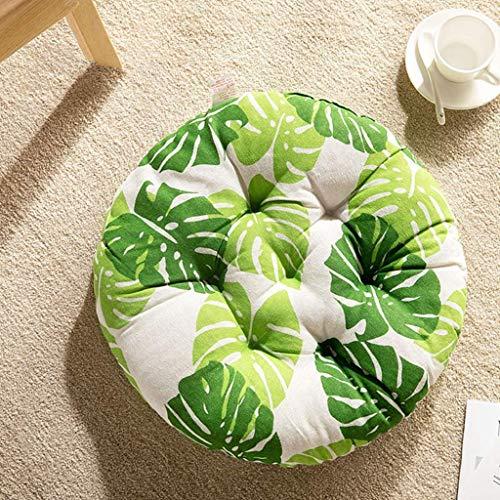 LIIYANN Rundes Kissen Kissen, japanische Futonmatte raues Tuch rundes Meditationskissen für Restaurant, Garten, Küchenstuhl (Farbe: C, Größe: 40x40cm) Geschenk