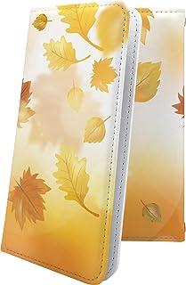 スマートフォンケース・Xperia J1 Compact D5788・互換 スマートフォンケース・手帳型 和柄 和風 日本 japan 和 秋 紅葉 葉っぱ エクスペリア コンパクト デザイン イラスト XperiaJ1 おしゃれ