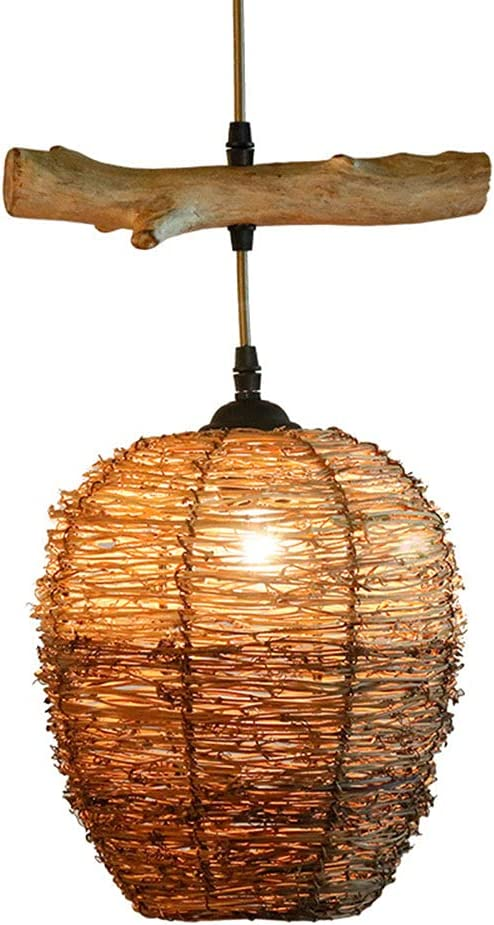 CSSYKV Natural Rattan Chandeliers Hand-Woven Inexpensive Hangi Vintage Discount mail order Round