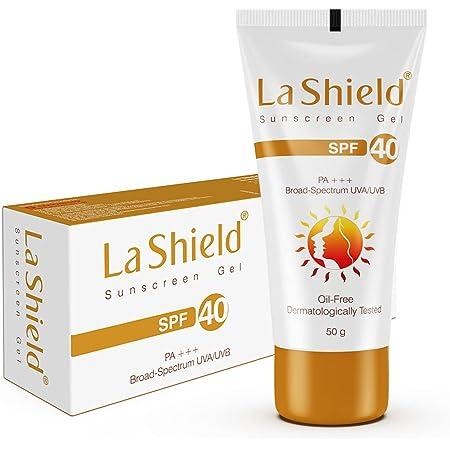 La Shield, SPF 40+ and Pa+++ Anti Acne Sunscreen Gel, Unscented, 50 g