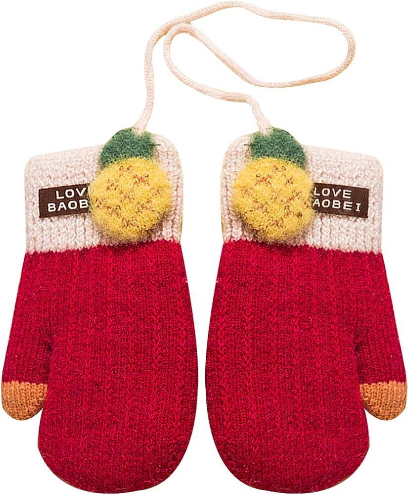 Heidi Toddler Kids Winter Warm Knitted Mittens Thicken Plush Lined Full Finger Gloves Xmas Gift for Boys Girls
