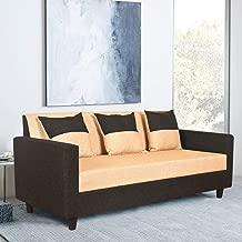Furny Amazia Three Seater  Sofa (Cream and Black)