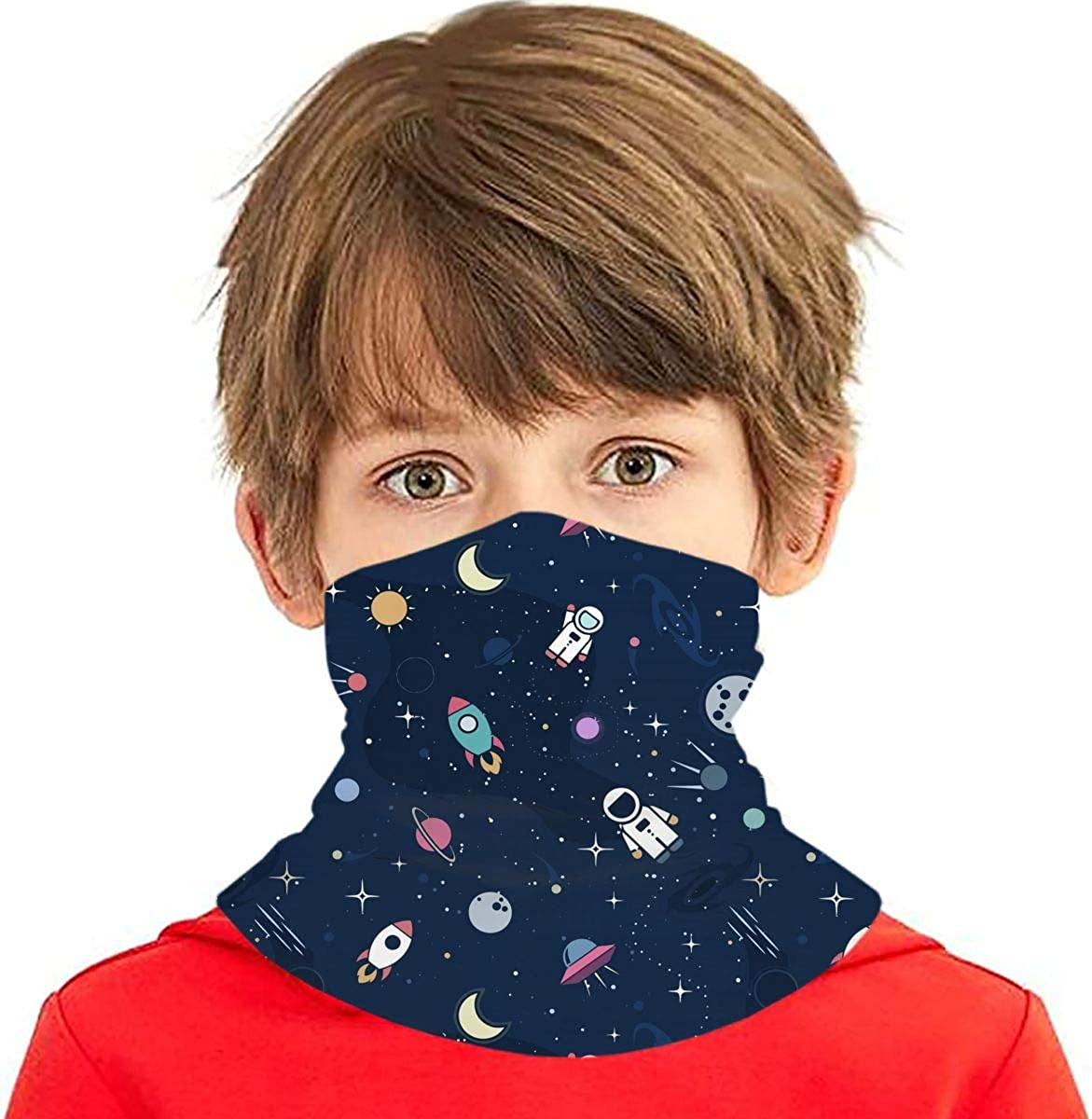 MSGUIDE Kids Seamless Face Mask Bandana UV Protection Neck Gaiter Headband for Dust, Outdoors, School, Sports