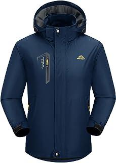 BIYLACLESEN Men's Breathable Lightweight Soft Shell Windproof Waterproof Hiking Jacket