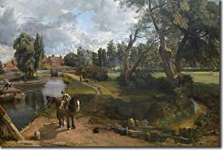 John Constable - Flatford Mill Scene on a Navigable River (1816) - Classic Painting Photo Poster Print Art Gift - RA Suffolk Landscape Painter Country - Size: 15 x 10 Inches (38 x 25 cm)
