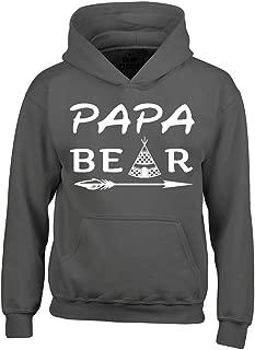 Shop4Ever Papa Bear Teepee Hoodies Father's Day Sweatshirts