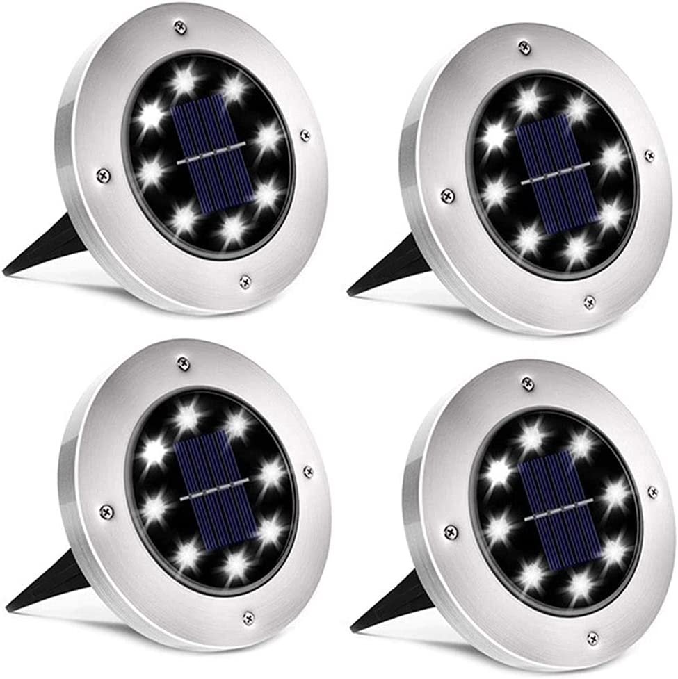 Decor Backyard Porch Lights Solar Ground Max 88% OFF 8 Waterproof List price LED