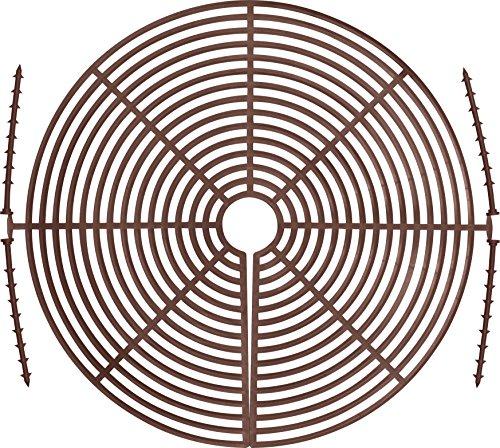 ABUS Blumentopfgitter Noah Pflanzenschutzgitter - schützt die Pflanzeerde vor Tieren und Kindern - bis zu 30 cm Durchmesser - braun - 73158