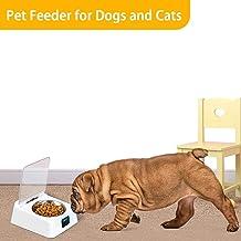 Earthily Comedero Automático para Perros Gatos - Dispensador de Comida con Sensor de Infrarrojos, Pantalla LCD, Anti-ácaros Anti-ratón, Cubierta Abierta Inteligente Comedero para Mascotas masterwork