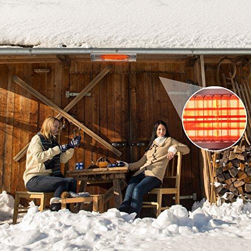 Gardigo Edelstahl Infrarotstrahler Heizstrahler, Terrassenstrahler wärmt gezielt Menschen, 2000 W, Deutscher Hersteller - 4