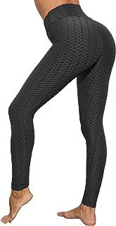IuulFex Workout Leggings Women Booty Yoga Pants High Waist Scrunch Butt Lifting Tummy Control Tights