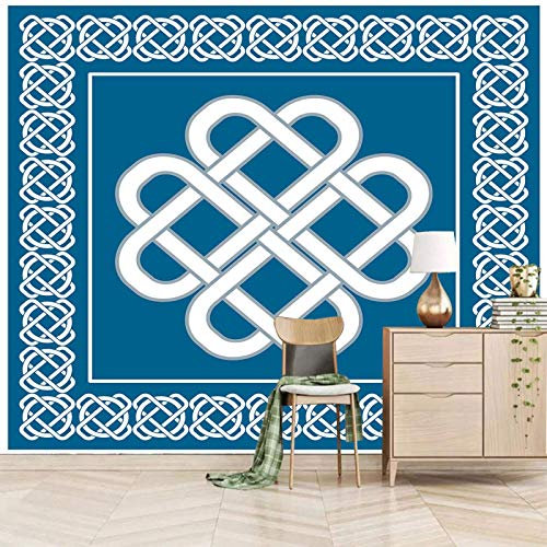 Msrahves fotomurales decorativos pared Azul patrón moda creatividad Xxl Papel Pintado Tejido No Tejido Decoración De Pared Decorativos Murales Moderna De Diseno Fotográfico Fotomurales 3D
