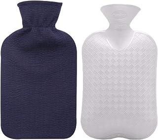 بطری آب گرم مایع با پوشش پنبه ای پنبه ای (آبی ، 67oz)