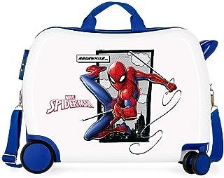 Marvel Spiderman Action Valise Enfant Bleu 50x38x20 cms Rigide ABS Serrure à combinaison 34L 2,3Kgs 4 roues Bagage à main