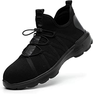 0856665b0 SROTER Scarpe Antinfortunistiche Uomo Donna Scarpe da Lavoro con Punta in  Acciaio Leggere Traspiranti Sneaker da