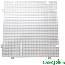 Creator's Waffle Grid 1-Pack Solid Bottom Translucent/Clear Modular Surface For Glass Cutting, Drying Rack, Small Parts or Liquid Containment. Use At Home, Office, Shop - Works With Creator's Products